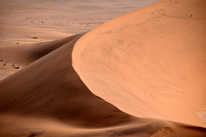 Viaggio in auto in Namibia, il deserto del Namib.