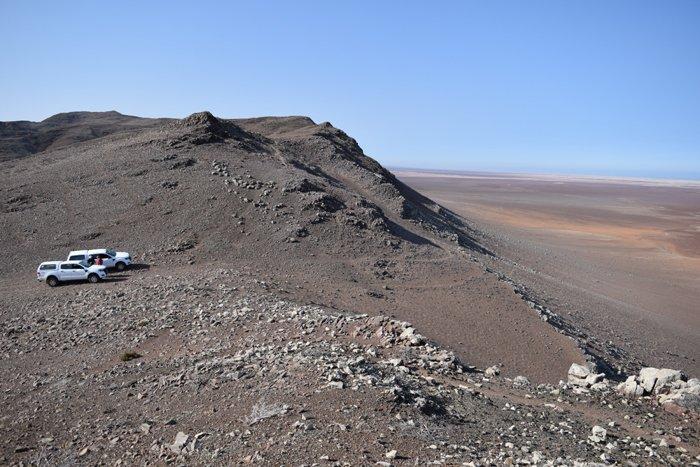 Viaggio in auto in Namibia, il Messum Crater.