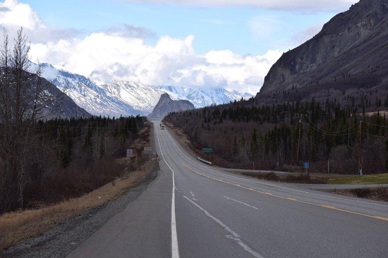Viaggio in auto in Alaska: la Glenn Highway.