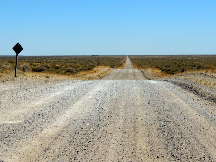 Puerto Madryn: una strada nella penisola di Valdés.