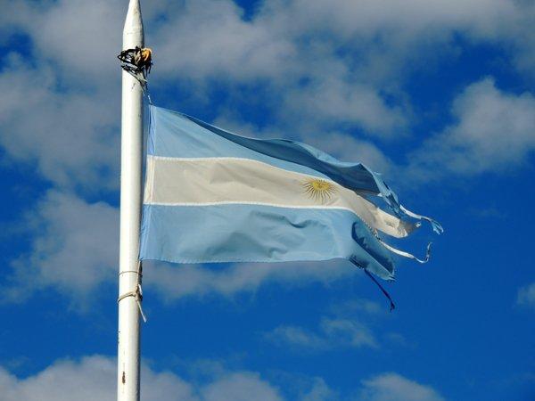 La bandiera argentina.
