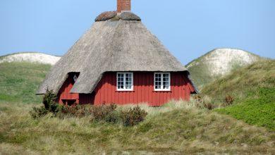 Photo of Sulle strade della Danimarca, tra dune di sabbia, lagune e case dal tetto di paglia