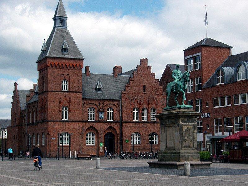 Una piazza di Esbjerg